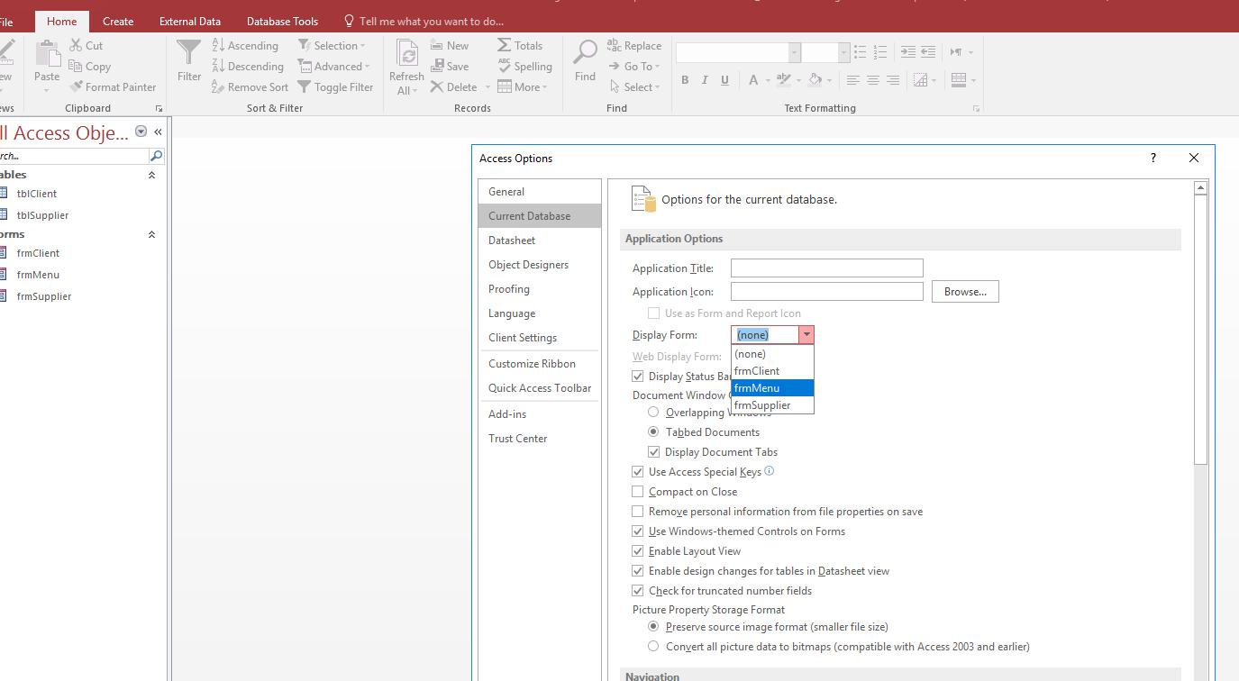 create a navigation menu in access using vba rh mydatacareer com Microsoft Access 2007 Manual Microsoft Access 2010 Manual